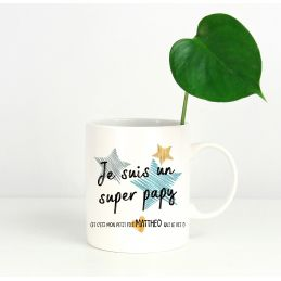 Mug personnalisable recto Super papy