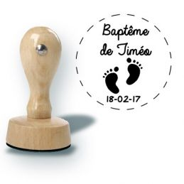 Tampon personnalisé pour baptême