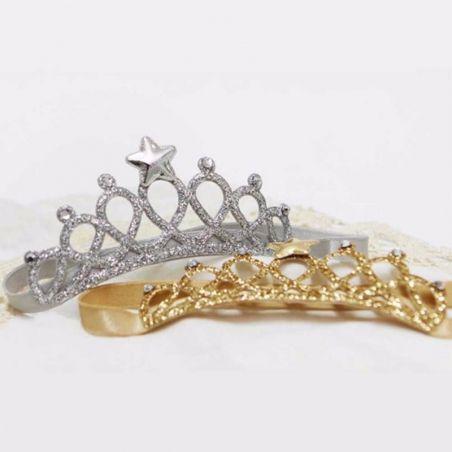 Couronne + badge personnalisé pour princesse La chouette mauve Livraison rapide Fabrication en France