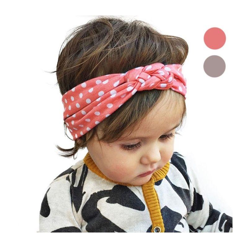 Headband à pois pour bébé/enfant|La chouette mauve|Livraison rapide|Fabrication en France