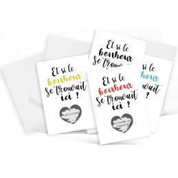 4 minis cartes à gratter...
