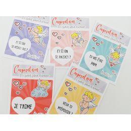 Carte à gratter Jeu Cupidon|La chouette mauve|Livraison rapide|Fabrication en France