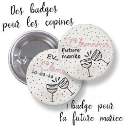 Badges EVJF rond grand...