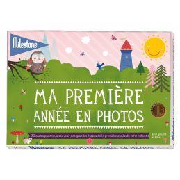 30 cartes Ma première année en photos Milestone (classique) La chouette mauve Livraison rapide Fabrication en France