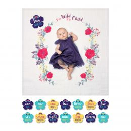 "Lange en coton & cartes étapes  - ""Stay wild my child"" -..."