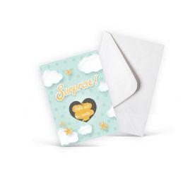 Mini carte à gratter pour une annonce de grossesse