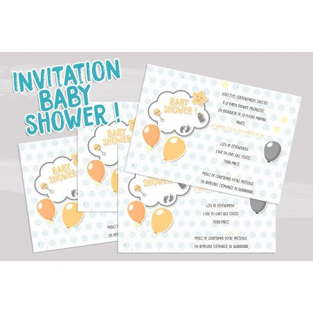 Cartons d'invitation à une baby shower !! La chouette mauve Livraison rapide Fabrication en France
