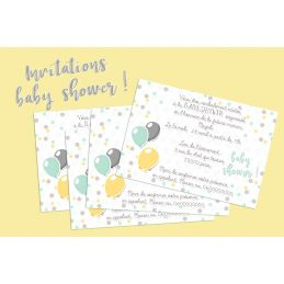 Cartons d'invitation à une baby shower !!