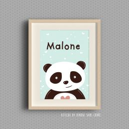 affiche pour chambre d 39 enfant cute panda. Black Bedroom Furniture Sets. Home Design Ideas