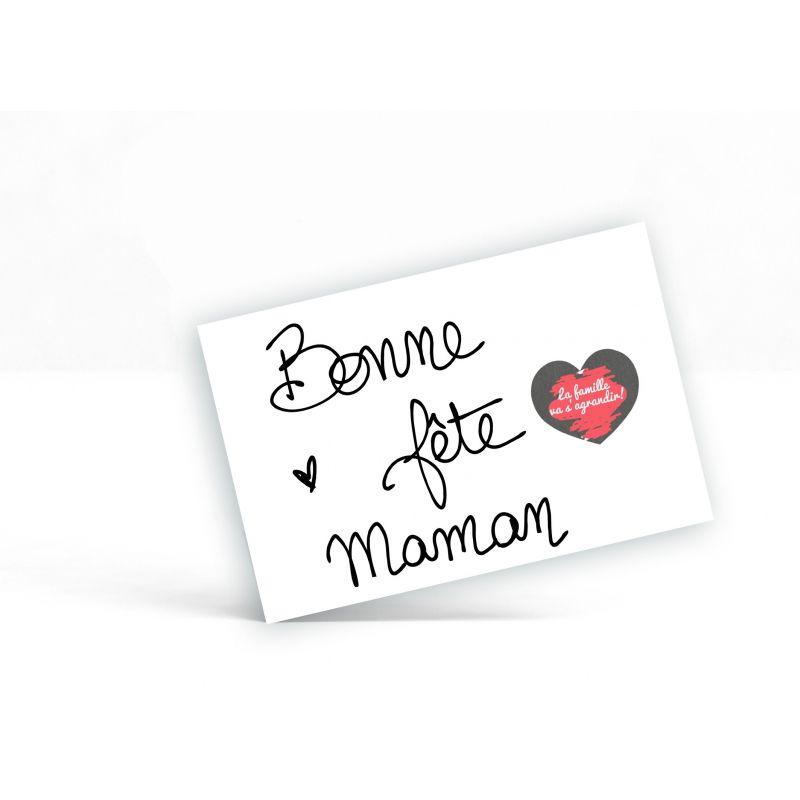 Carte à gratter personnalisable surprise Fête des mères, maman.|La chouette mauve|Livraison rapide|Fabrication en France