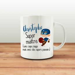 Mug personnalisable Super maitre