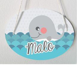 Plaque de porte chambre enfant personnalisable - modèle Malo