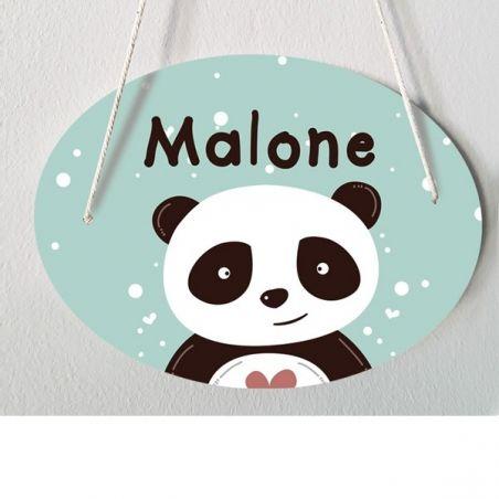 Plaque de porte chambre d'enfant personnalisable - modèle Malone|La chouette mauve|Livraison rapide|Fabrication en France
