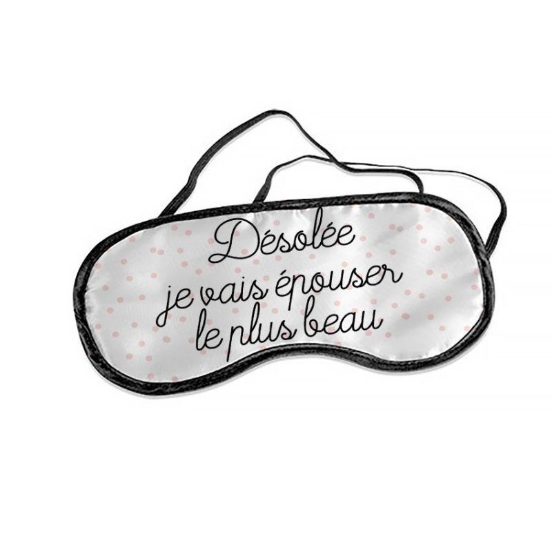 Masque personnalisable EVJF modèle sweet La chouette mauve Livraison rapide Fabrication en France