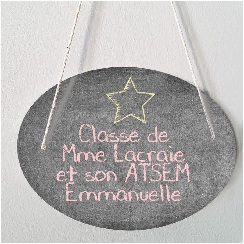 Plaque porte  personnalisable - Tableau noir - salle de classe|La chouette mauve|Livraison rapide|Fabrication en France