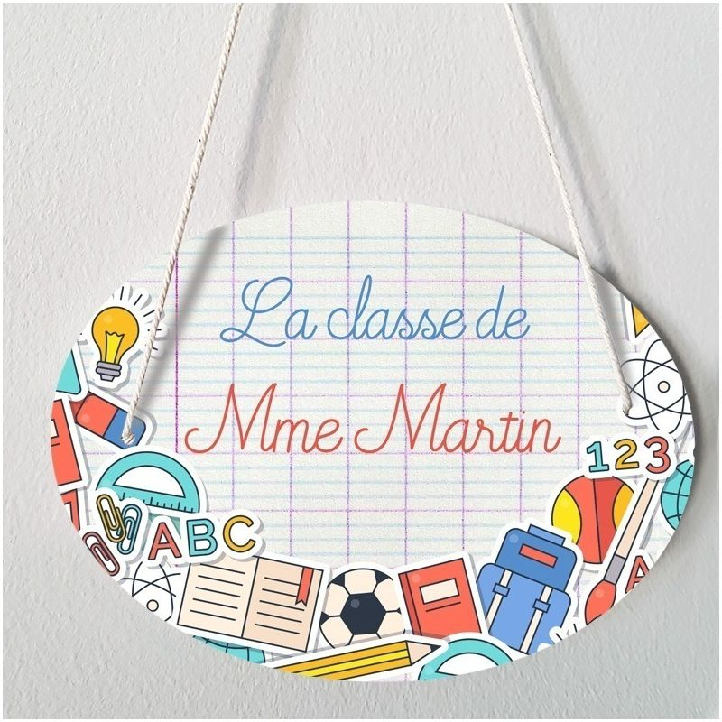 Plaque porte  personnalisable - Colors - salle de classe|La chouette mauve|Livraison rapide|Fabrication en France