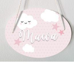 Plaque porte enfant personnalisable - Maeva