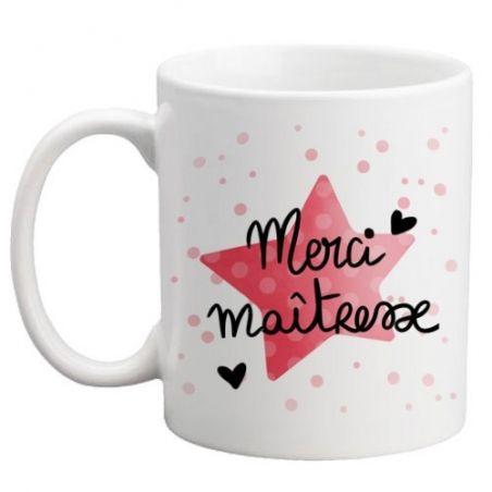Mug Merci maîtresse La chouette mauve Livraison rapide Fabrication en France