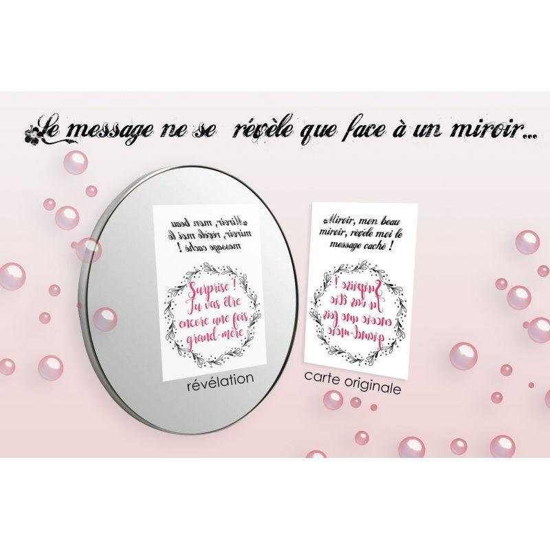 """Carte """"miroir"""" personnalisable La chouette mauve Livraison rapide Fabrication en France"""