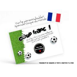 Carte à gratter personnalisable Spéciale Coupe du monde...
