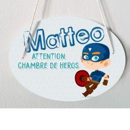 Plaque porte enfant personnalisable - Matteo