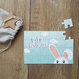Puzzle personnalisable - Lapin
