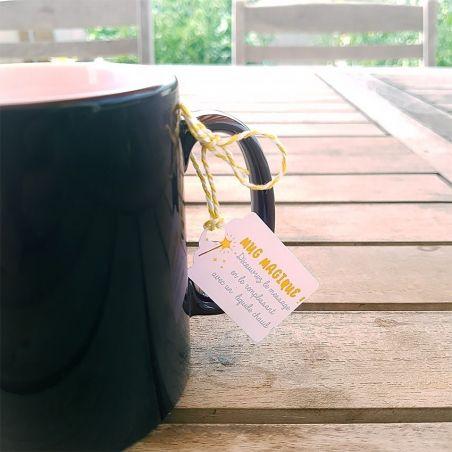 Mug magique personnalisable nounou La chouette mauve Livraison rapide Fabrication en France