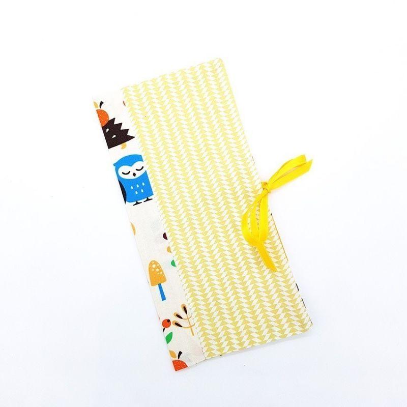 Protège livret de famille Yellow La chouette mauve Livraison rapide Fabrication en France