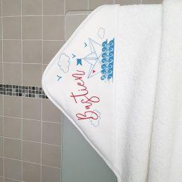 Cape de bain en éponge,...