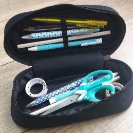 Trousse à crayons personnalisable, modèle Dragon La chouette mauve Livraison rapide Fabrication en France