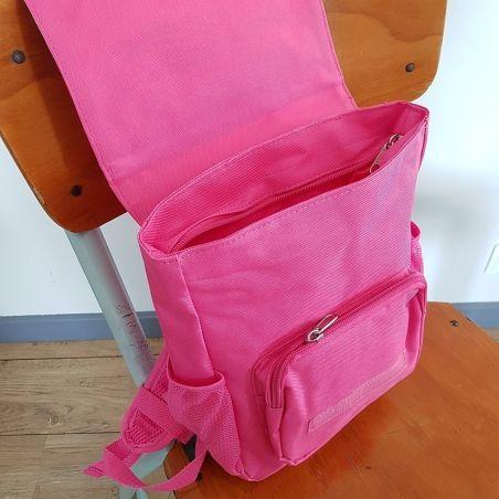 Sac à dos personnalisé pour enfant modèle baleine rose La chouette mauve Livraison rapide Fabrication en France