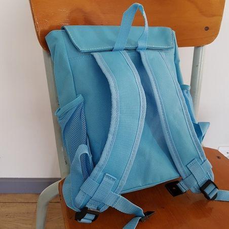 Sac à dos personnalisé pour enfant modèle Chouette bleue La chouette mauve Livraison rapide Fabrication en France