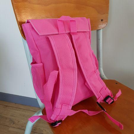 Sac à dos personnalisé pour enfant modèle Flamand rose La chouette mauve Livraison rapide Fabrication en France