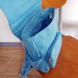 Sac à dos personnalisé pour enfant modèle Héros La chouette mauve Livraison rapide Fabrication en France