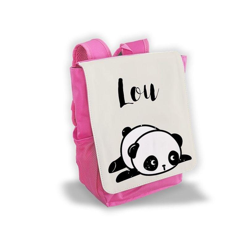 Sac à dos personnalisé pour enfant modèle Panda rose|La chouette mauve|Livraison rapide|Fabrication en France