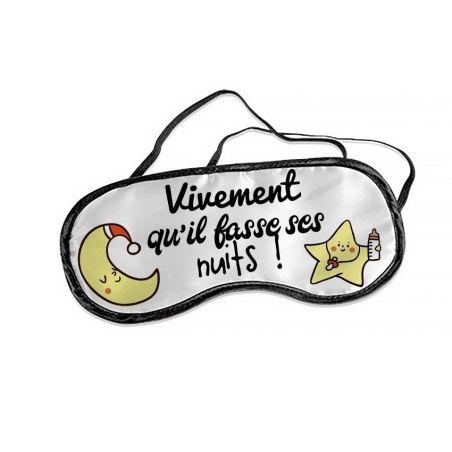 Masque personnalisable pour jeune parent ! modèle Lune & étoiles La chouette mauve Livraison rapide Fabrication en France