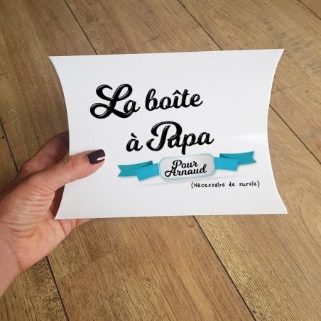 Boîte à papa remplie personnalisable|La chouette mauve|Livraison rapide|Fabrication en France