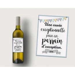 Etiquette bouteille vin...