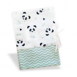 Protège carnet de santé Panda bleu