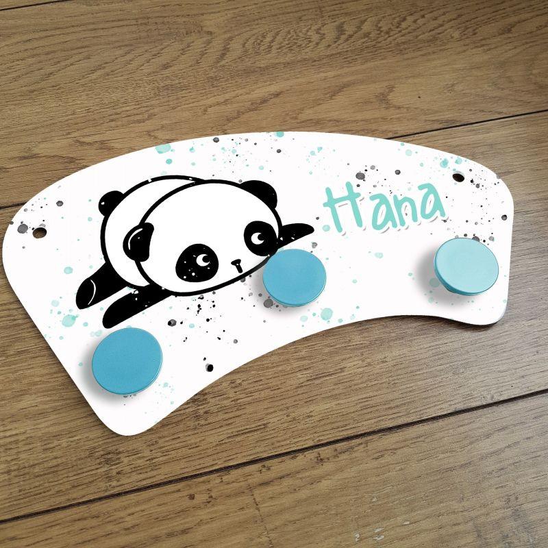 Porte manteaux chambre enfant personnalisé - Panda|La chouette mauve|Livraison rapide|Fabrication en France