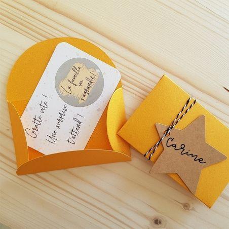 Mini pochette surprise pour annonce de grossesse ! La chouette mauve Livraison rapide Fabrication en France