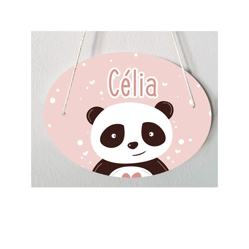 Plaque de porte chambre d'enfant personnalisable - modèle Célia|La chouette mauve|Livraison rapide|Fabrication en France