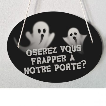 Plaque de porte pour Halloween modèle fantômes|La chouette mauve|Livraison rapide|Fabrication en France