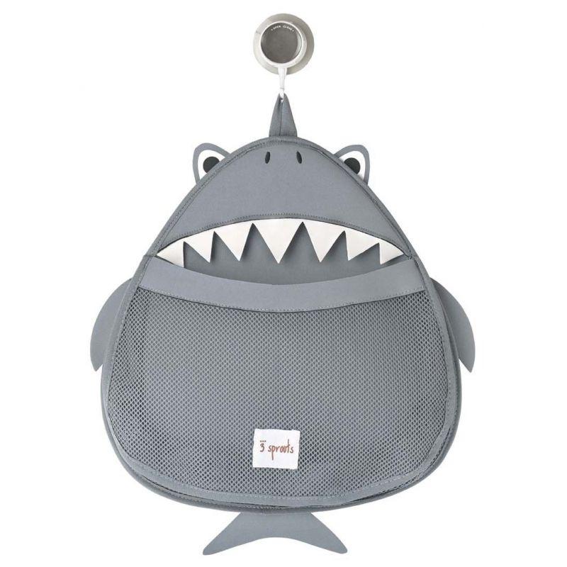 Rangement pour le bain modèle Requin|La chouette mauve|Livraison rapide|Fabrication en France