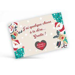"""Carte à gratter Noël """"J'ai..."""