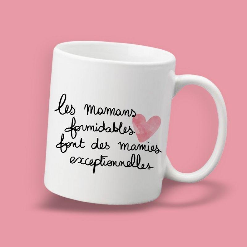 Mug Les mamans formidables font des mamies exceptionnelles La chouette mauve Livraison rapide Fabrication en France