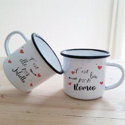Duo de tasses émaillées...