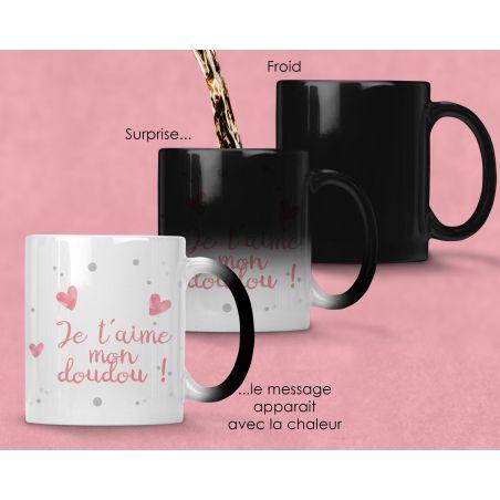 Mug magique personnalisable Amour La chouette mauve Livraison rapide Fabrication en France