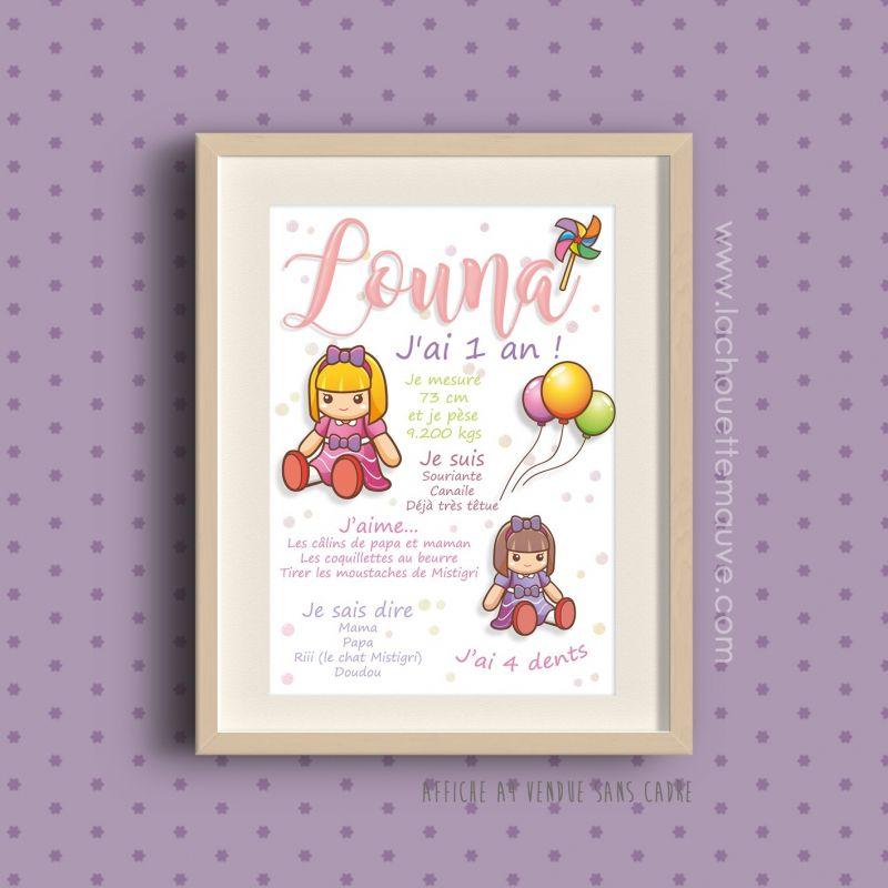 Affiche Pour Le 1er Anniversaire De Bébé
