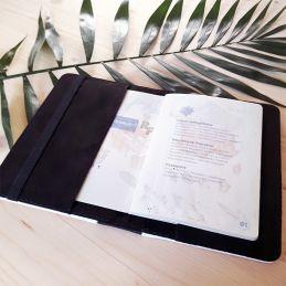 Protège passeport personnalisable Cahier|La chouette mauve|Livraison rapide|Fabrication en France